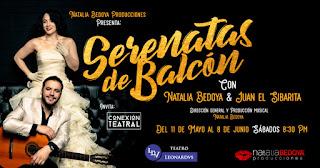 Serenatas de balcón con Natalia Bedoya y Juan el sibarita en Bogotá