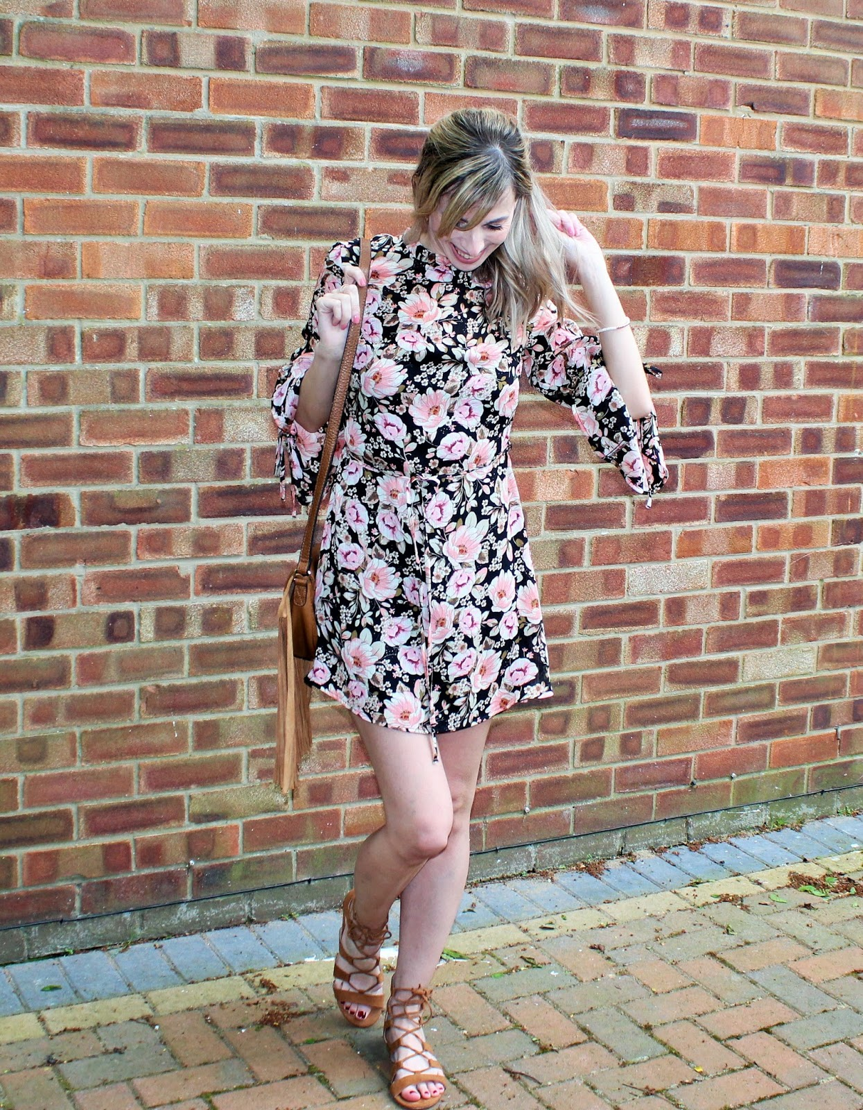 OOTD featuring a floral dress from Topshop and beaded bracelet from Lola Rose - 9