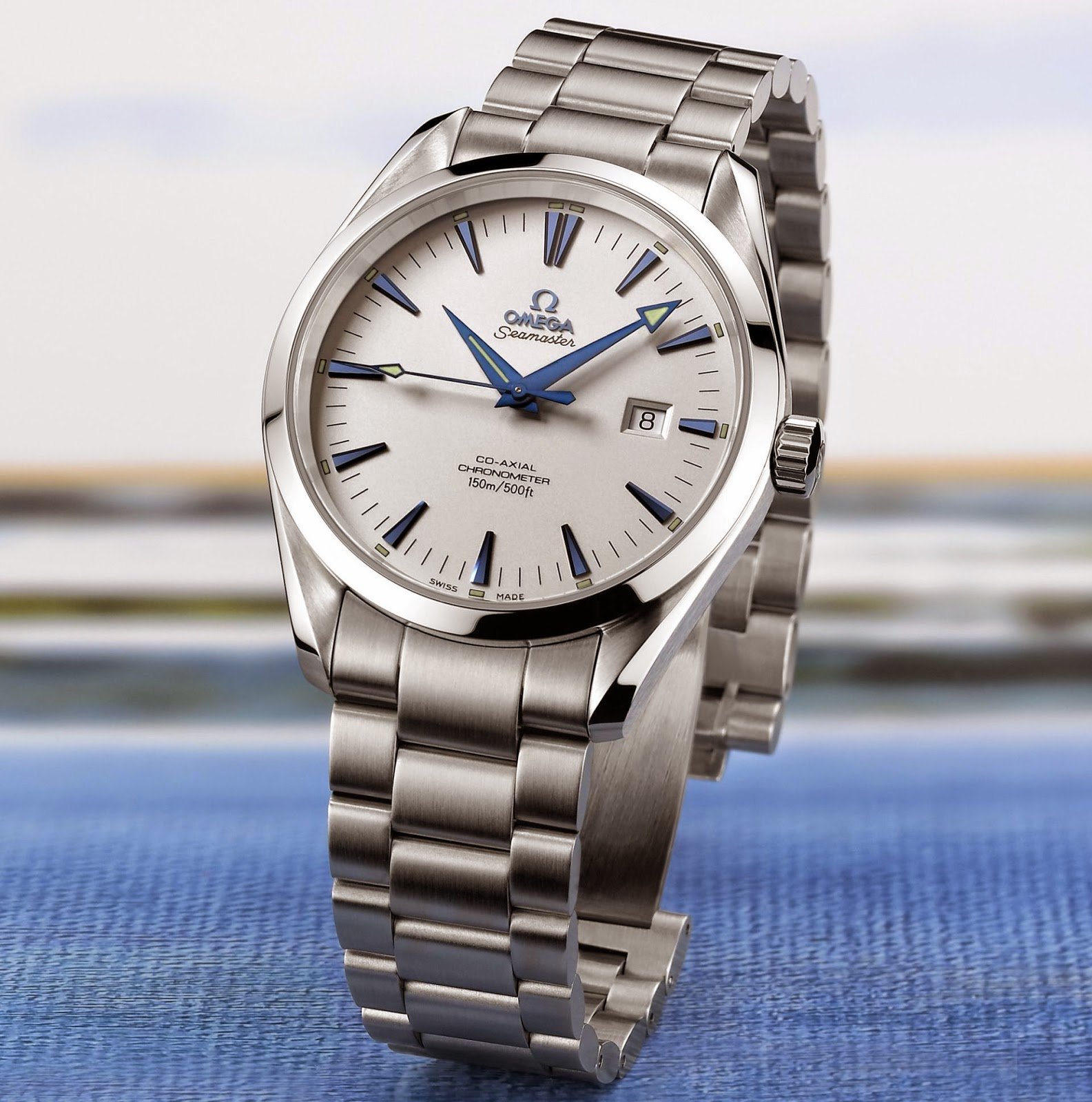 OMEGA Seamaster Aqua Terra, Stainless Steel Case, 41 mm, Silvered Opaline Dial