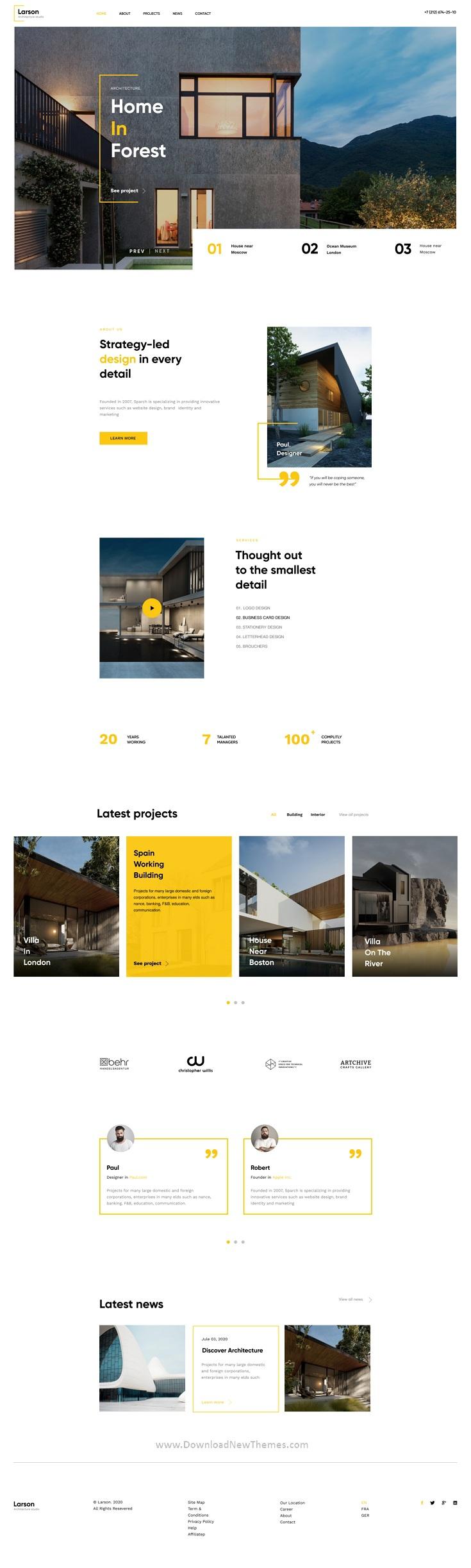 Architecture & Interior Figma Template