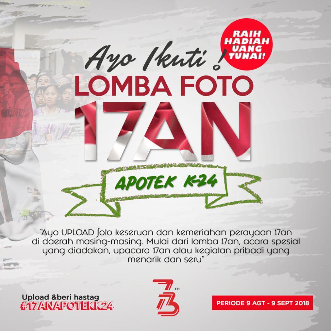 K24 - Promo Lomba Foto 17an Dapat Hadiah 250 Ribu Untuk 8 Orang (s.d 9 Sept 2018)