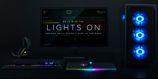 CORSAIR RGB – Because gear this good doesn't hide in the dark