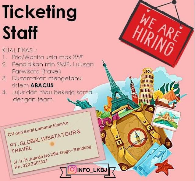 lowongan kerja staff tiketing PT Global Wisata Tour & Travel