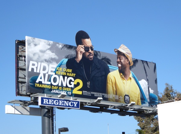 Ride Along 2 special extension movie billboard