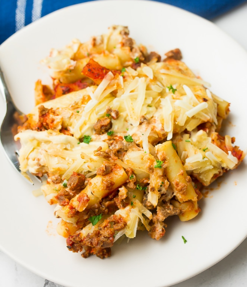 VEGAN BAKED ZITI #vegan #baked #healthyrecipes #dinner #food