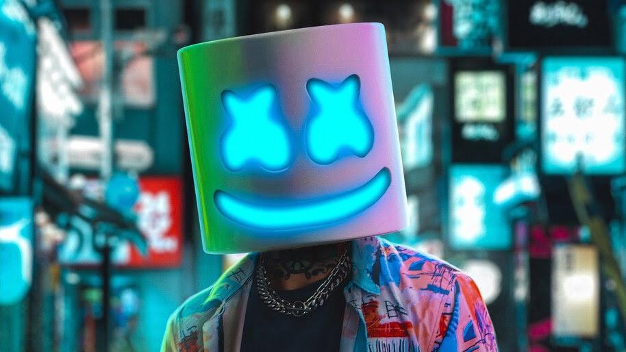 Marshmello, DJ, Neon, 4K, #4.3135