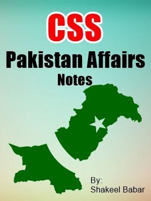 PAKISTAN AFFAIRS CSS NOTES free book pdf free download free pdf books