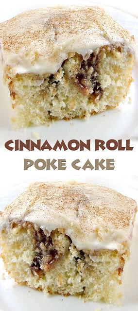Cinnamon Roll Poke Cake Recipe