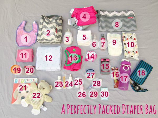 A perfectly packed diaper bag