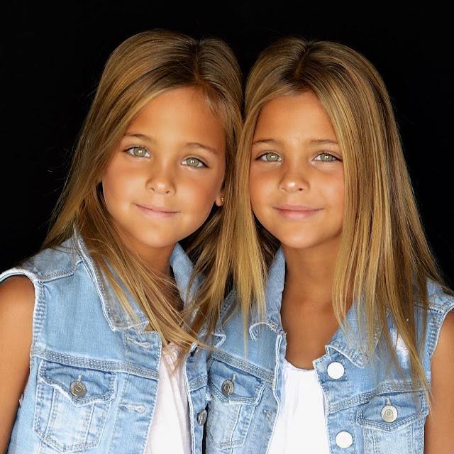 """Gêmeas de 7 anos já são consideradas as """"mais lindas do mundo"""""""