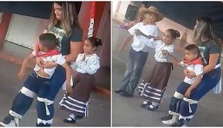 Δασκάλα δένει στη μέση μαθητή της με αναπηρία για να τον βοηθήσει να χορέψει στην εκδήλωση του σχολείου!!!