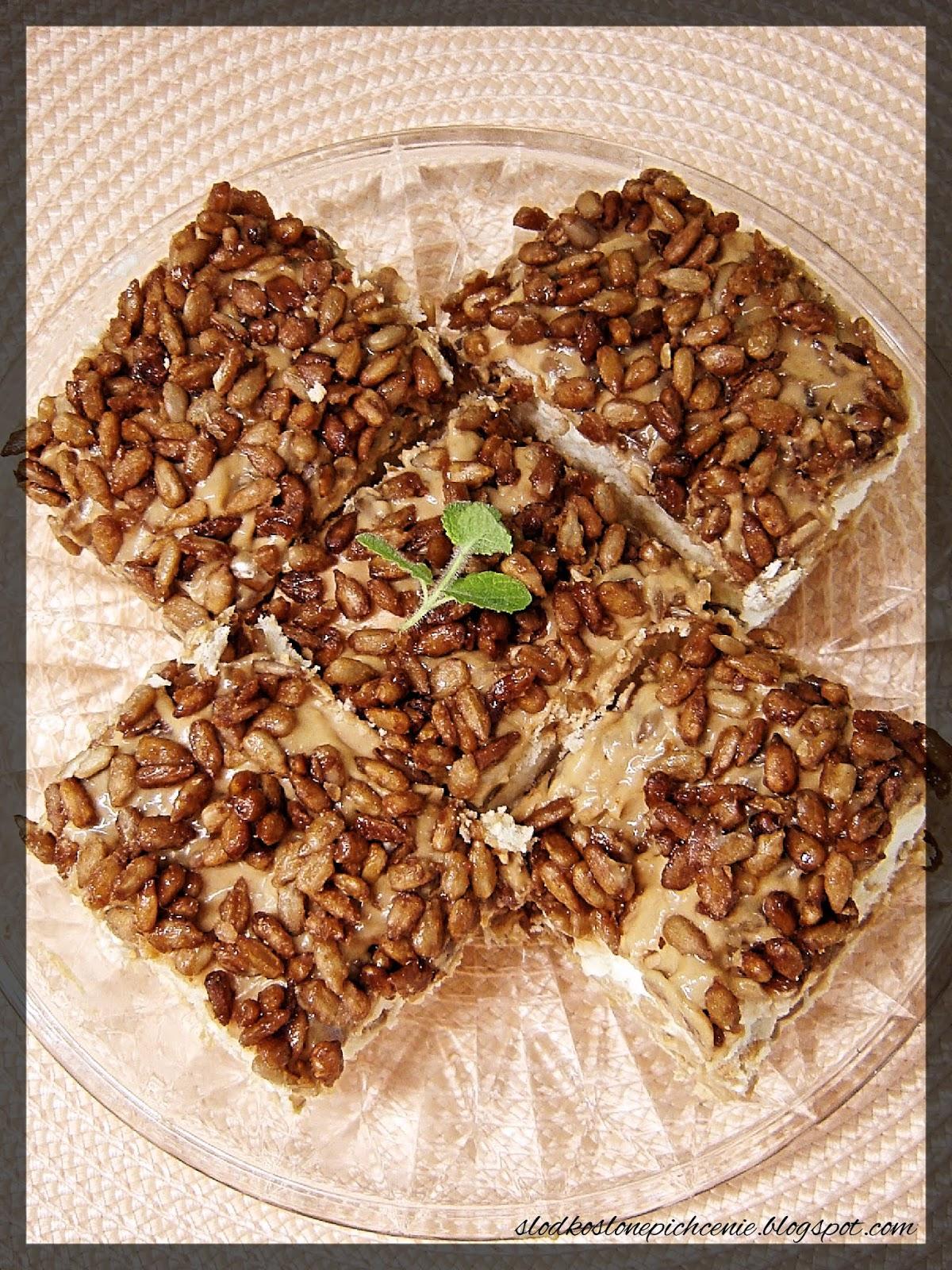 Słonecznikowiec na herbatnikach (bez pieczenia)