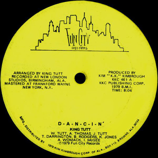 King Tutt - D-a-n-c-i-n' / You've Got Me Hung Up (1979) 12''