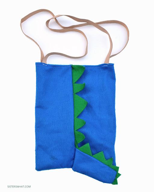 how to sew a dinosaur bag