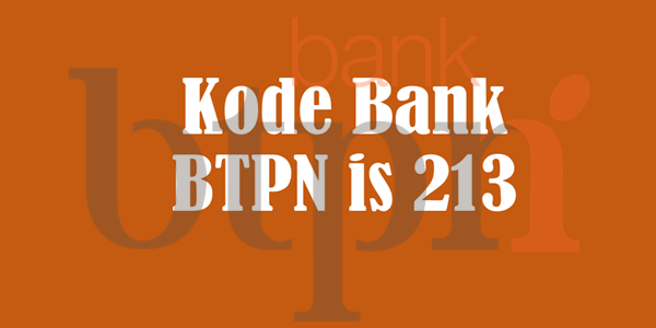 kode bank btpn wow