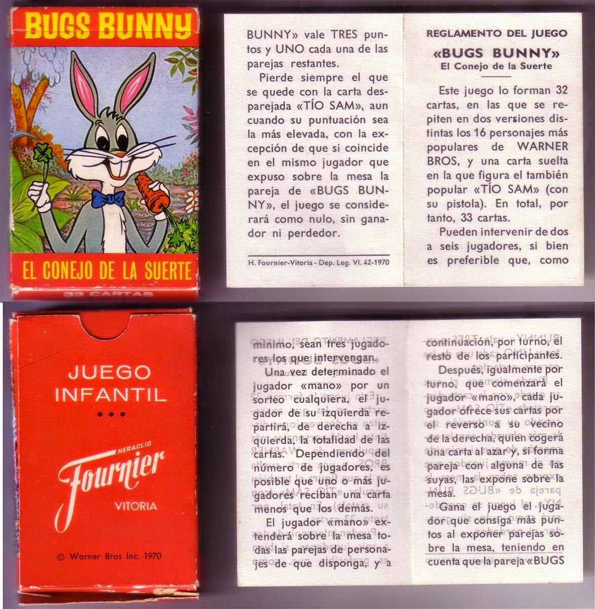 173ec6eaca5e Barajas y Naipes: Bugs Bunny, el conejo de la suerte