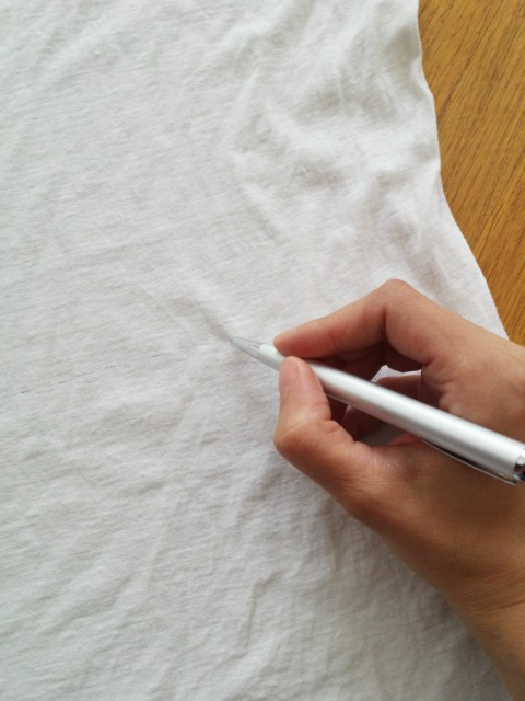 Označavanje linije na navlaci za košaru