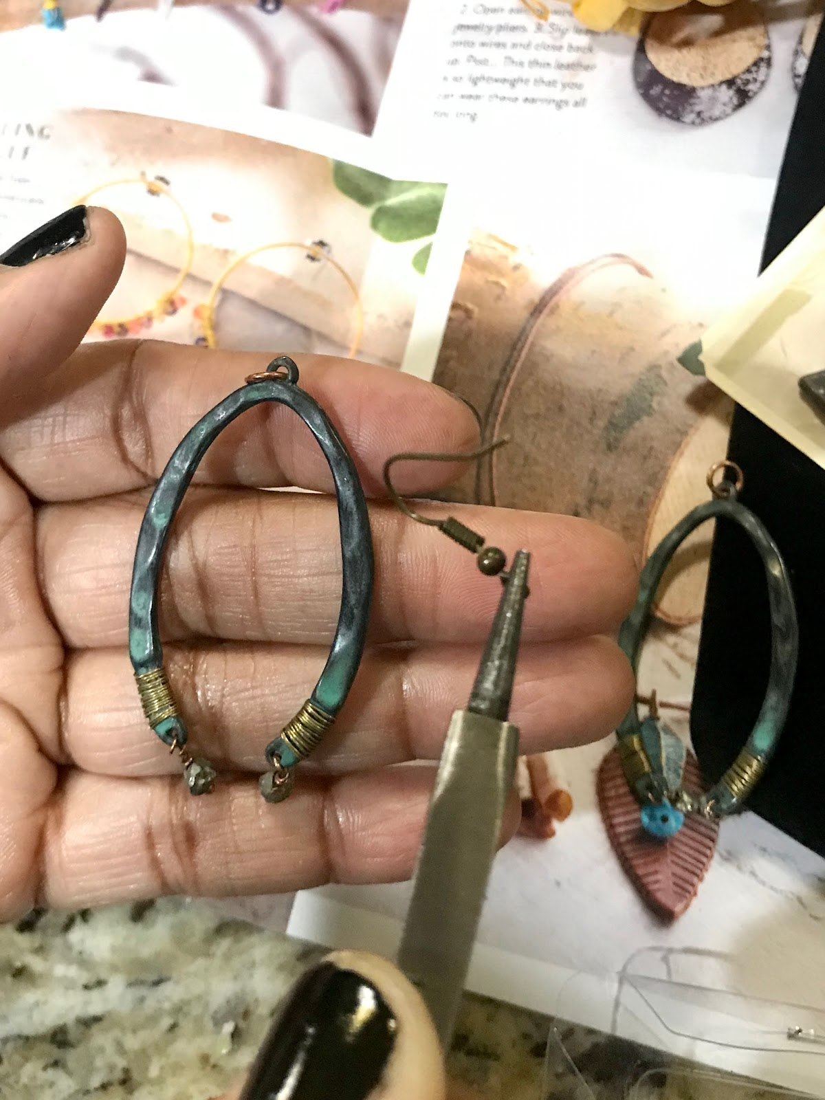 Adding a jump ring to poetic spirit hand crafted jewelry