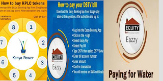 Use Equity banks eazzy pay to settle utility bills in kenya