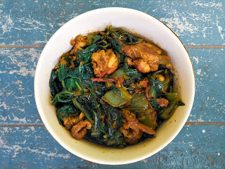 Chicken with mustard greens