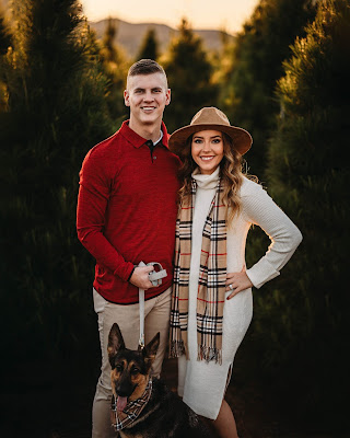 Holiday couples photos at Christmas Tree Farm San Diego CA by Morning Owl Fine Art Photography.