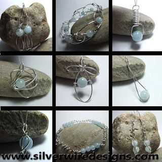 aquamarine blue gemstone jewellery
