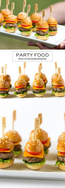A SIMPLE MINI CHEESEBURGERS - It's The Perfect Party Appetizeer