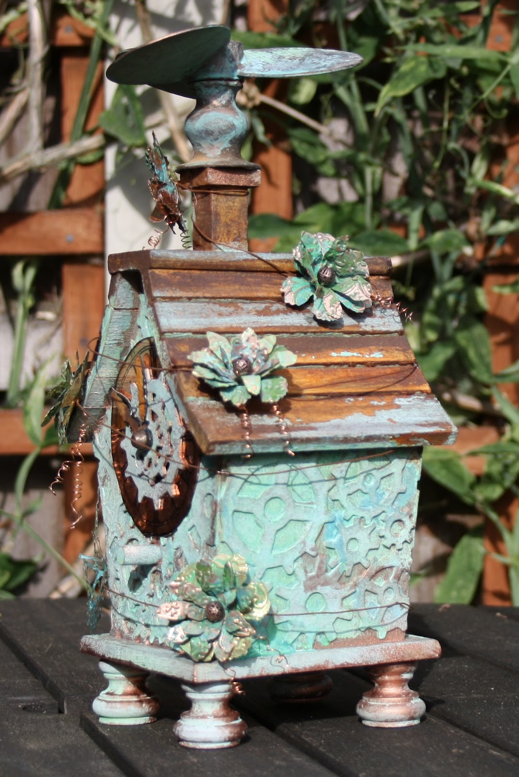 Carol Fox Welcome 2 My World Steampunk Birdhouse