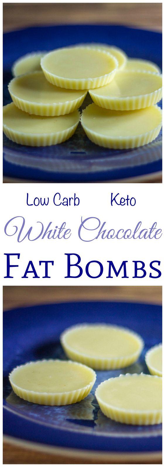 WHITE CHOCOLATE KETO FAT BOMBS RECIPE