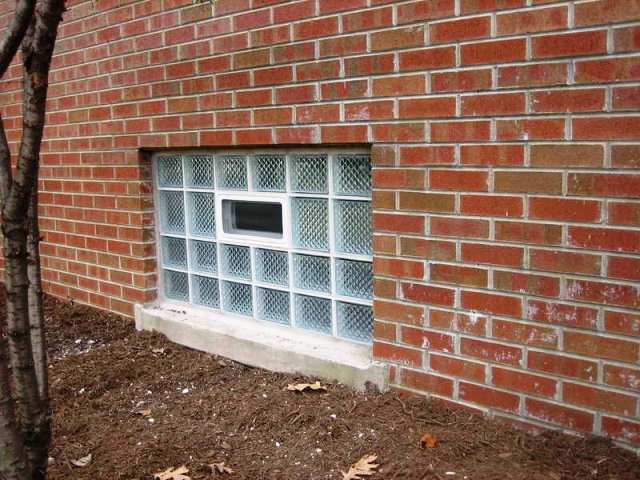 GLASS Block Basement WINDOW Installation