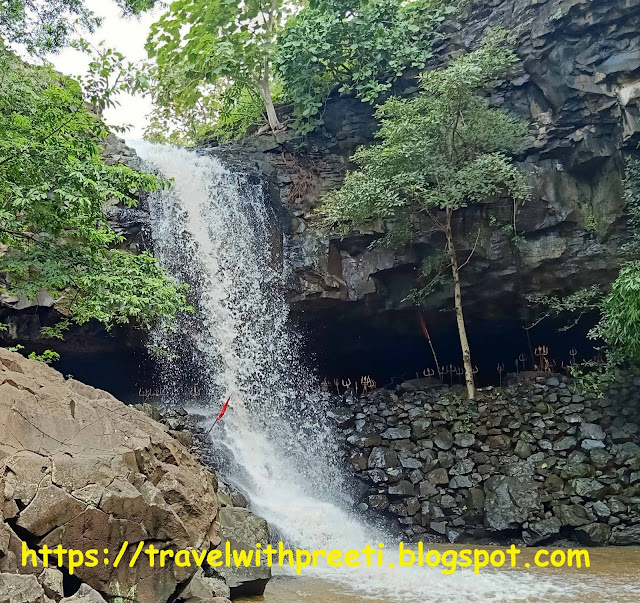 Math Ghogra waterfall and Cave