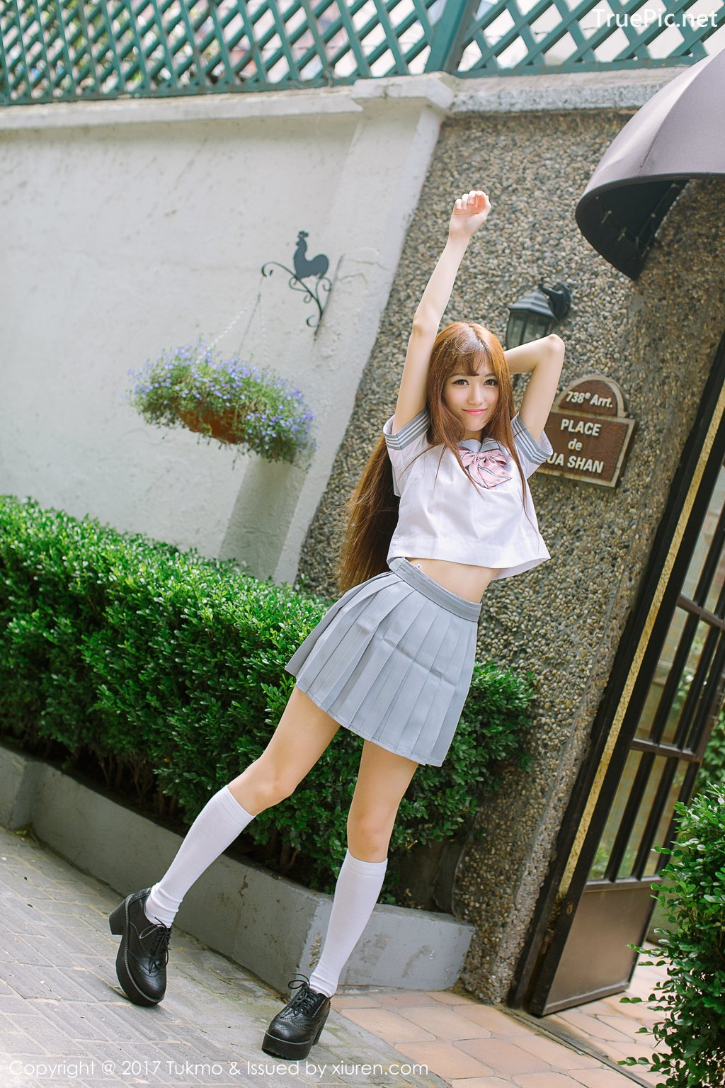 Image-Tukmo-Vol-094-Model-Zhao-Nai-Ying-赵乃莹-Lovely-School-Girl-With-Student-Uniform-TruePic.net- Picture-8