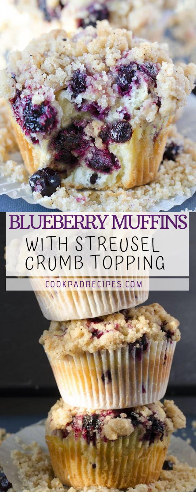 Blueberry Muffіnѕ Wіth Streusel Crumb Tорріng
