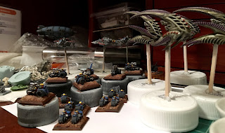 EPIC Squats Bikers Trikes Gyrocopters Overlord Airship Hawk Wargames Dropfleet Commander Scourge Frigates