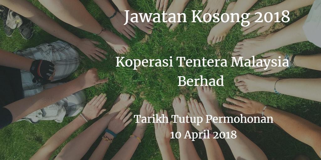 Jawatan Kosong Koperasi Tentera Malaysia Berhad 10 April 2018