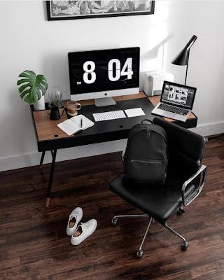 desain meja kerja komputer