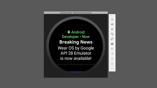 Android Developers Blog: Wear OS by Google: final API 28 emulator with new redesigned UI
