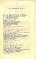 Page 14 of the prospectus, listing numerous subscribers to the publication beginning with George IV and Charles X.