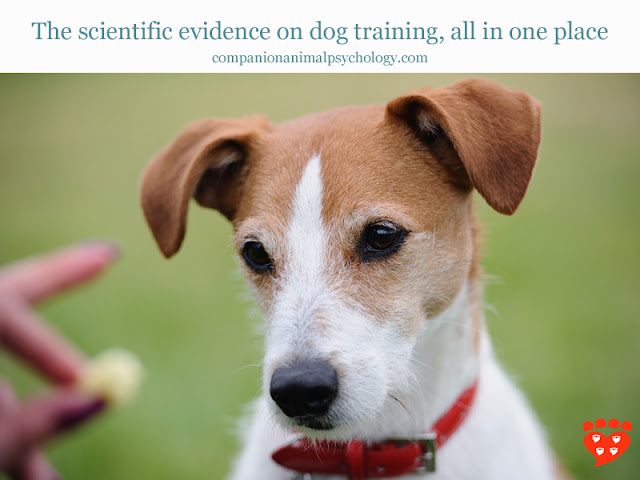 A Parsons JRT illustrates research on dog training methods