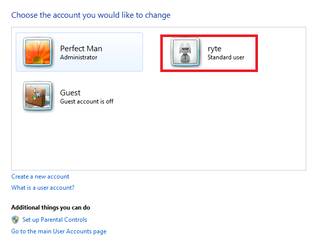Account created!