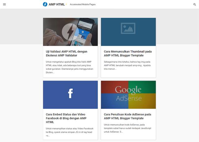 AMP HTML Template Blog
