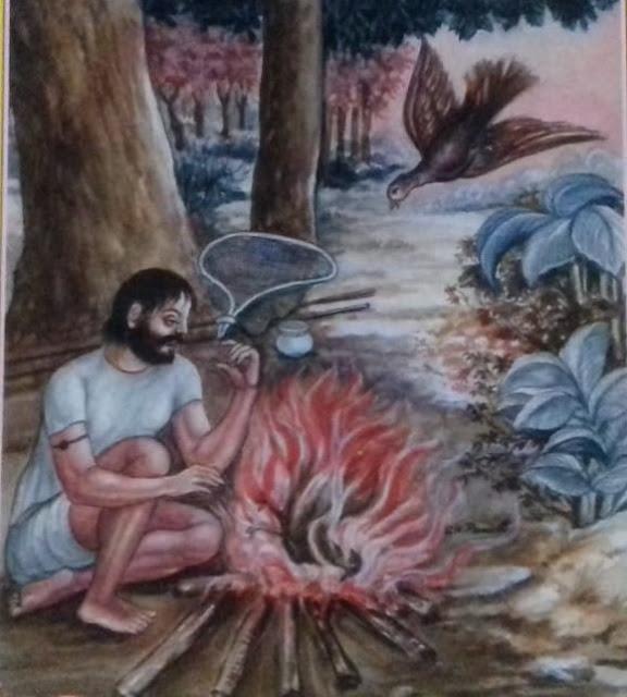Hindi Story Of Animals With Moral , कबूतर और कबूतरी का त्याग