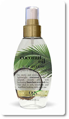 coconut oil mist to tame static in hair