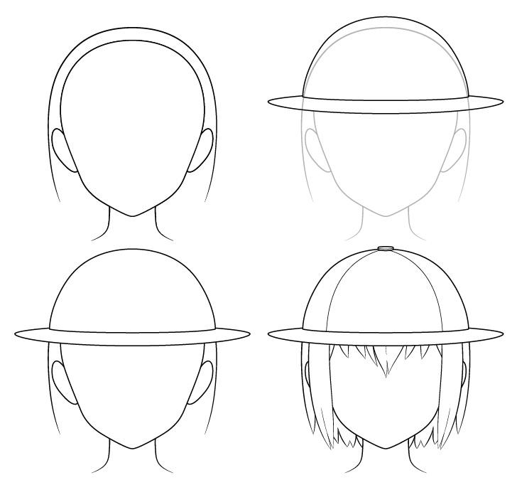 Gambar topi penjelajah anime selangkah demi selangkah