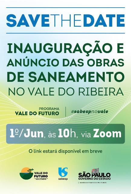 Sabesp inaugura obras de saneamento para levar mais qualidade de vida ao Vale do Ribeira