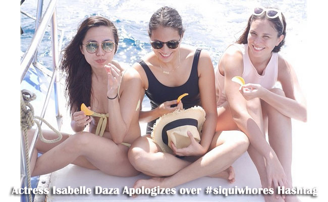 Actress Isabelle Daza Apologizes over #siquiwhores Hashtag