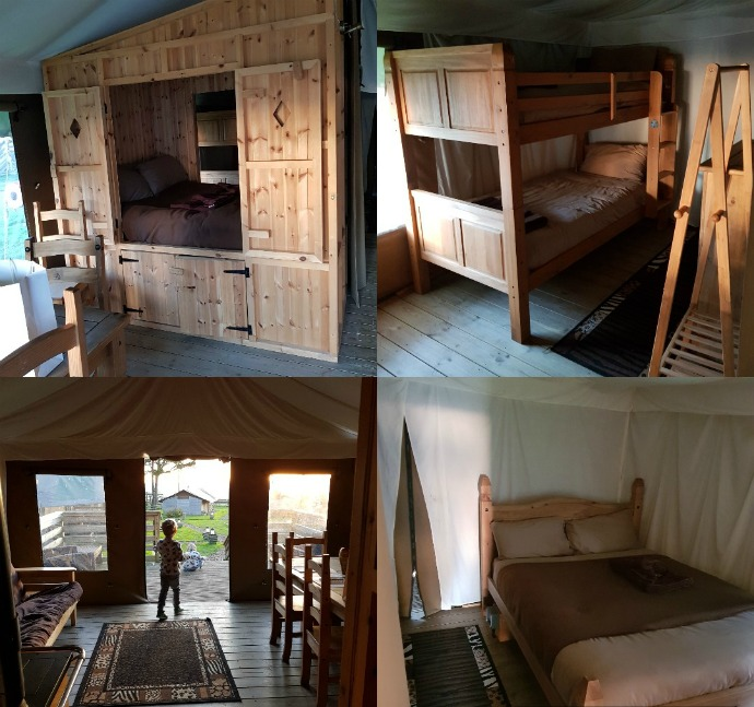 Bear Lodge, Port Lympne, glamping