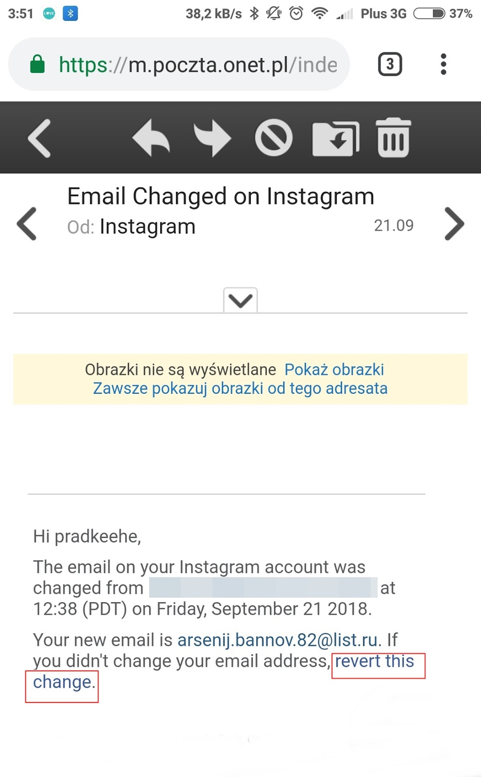 Kradzież konta na instagramie, jak odzyskać