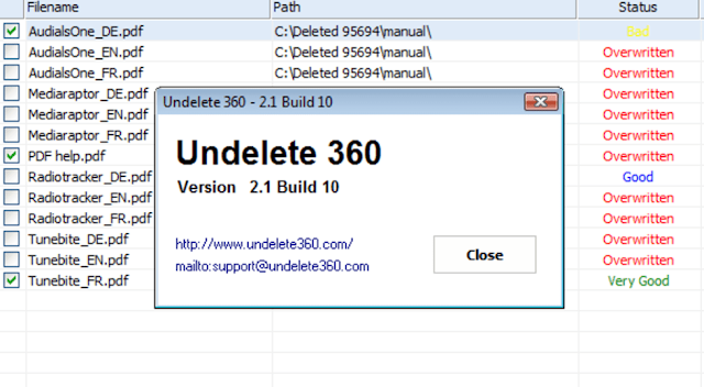 Undelete 360 merupakan salah satu aplikasi terbaik recovery data