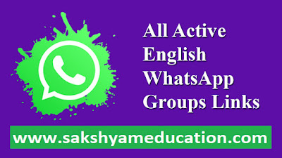 All Active English WhatsApp Groups Links 2021